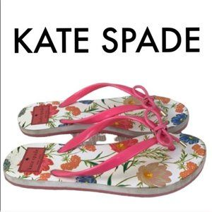 👑 KATE SPADE FLORAL THONG SANDALS 💯AUTHENTIC